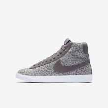 Nike Blazer Mid SE Lifestyle Shoes Girls Atmosphere Grey/Gum Light Brown/White/Gunsmoke 902772-004