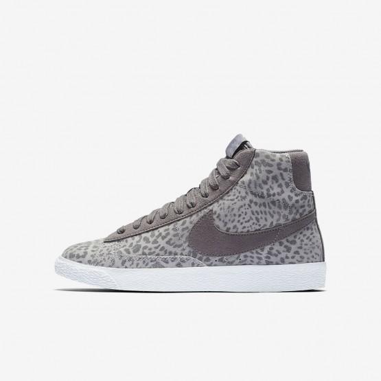 Nike Blazer Mid SE Lifestyle Shoes Girls Atmosphere Grey/Gum Light Brown/White/Gunsmoke 902772-004