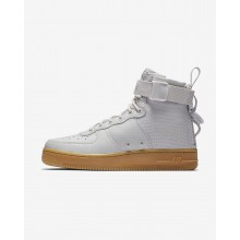 Nike SF Air Force 1 Lifestyle Shoes Womens Vast Grey/Gum Light Brown AA3966-005