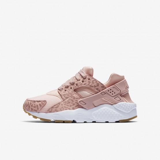 Zapatillas Casual Nike Huarache SE Niña Coral/Marrones Claro/Blancas/Rosas 904538-603