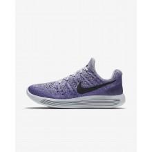 Nike LunarEpic Low Flyknit 2 Hardloopschoenen Dames Grijs/Paars/Donker/Zwart 863780-007