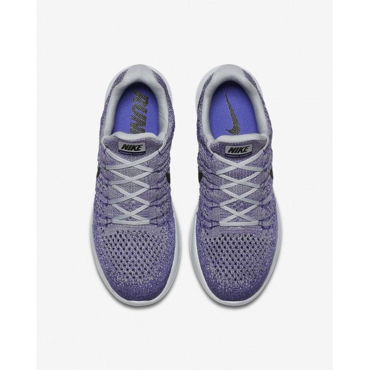 outlet store f29c5 f4d14 ... Chaussure Running Nike LunarEpic Low Flyknit 2 Femme Grise/Violette/Foncé  Noir 863780- ...
