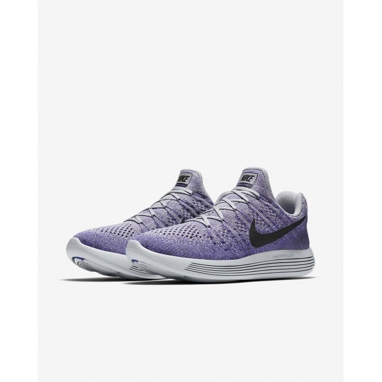 check out 4dd60 80c04 ... Chaussure Running Nike LunarEpic Low Flyknit 2 Femme Grise/Violette/Foncé  Noir 863780-