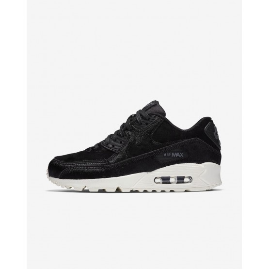 Nike Air Max 90 LX Lifestyle Shoes Womens Black/Dark Grey/Sail 898512-006