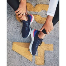 Nike Epic React Flyknit Running Shoes Womens College Navy/Racer Blue/Pink Blast AQ0070-400