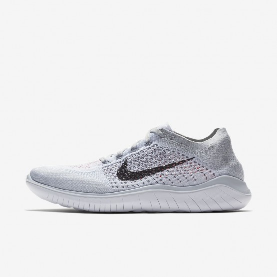 Zapatillas Running Nike Free RN Flyknit 2018 Hombre Plateadas/Blancas/Gris/Negras 942838-003