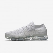 Nike Air VaporMax Flyknit Running Shoes Womens White/Sail/Light Bone 849557-100