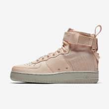 Nike SF Air Force 1 Lifestyle Shoes Womens Orange Quartz/Pale Grey AA3966-800