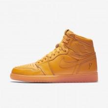Nike Air Jordan 1 Retro High OG Orange Lifestyle Shoes Mens Orange Peel AJ5997-880