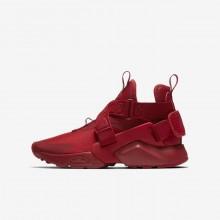 Nike Huarache City Casual Schoenen Jongens Rood/Wit/Zwart AJ6662-601