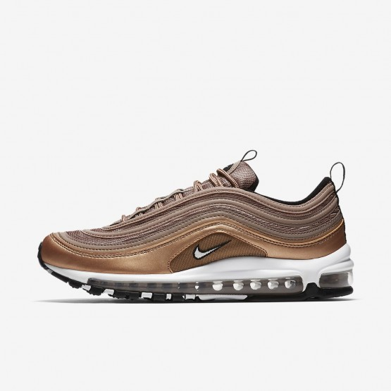 Nike Air Max 97 Lifestyle Shoes Mens Desert Dust/Metallic Red Bronze/Black/White 921826-200