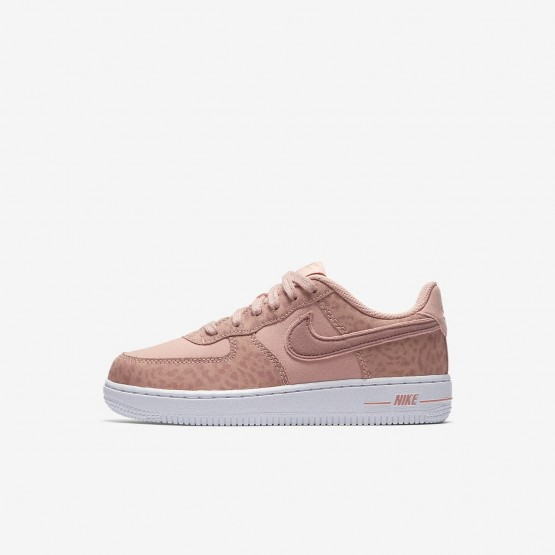 Nike Air Force 1 LV8 Lifestyle Shoes Girls Coral Stardust/White/Rust Pink AH7529-600