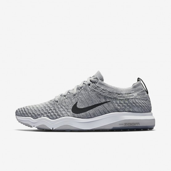 Nike Air Zoom Fearless Flyknit Lux Training Shoes Womens Wolf Grey/White/Anthracite 922872-002