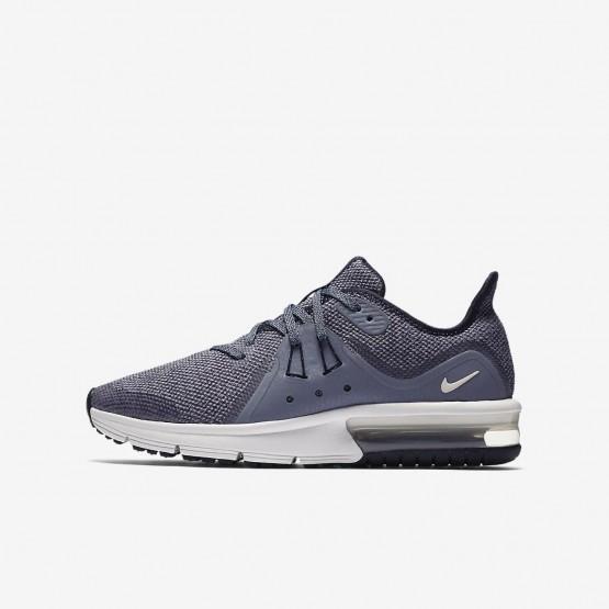 Nike Air Max Sequent 3 Running Shoes Boys Obsidian/Dark Obsidian/White/Metallic Dark Grey 922884-400