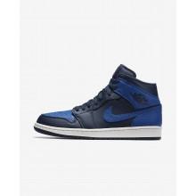 Nike Air Jordan 1 Mid Casual Schoenen Heren Obsidian/Wit/Koningsblauw 554724-412