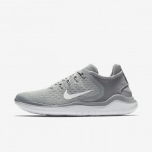 Nike Free RN 2018 Running Shoes Womens Wolf Grey/White/Volt 942837-003