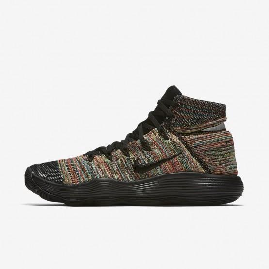 Nike React Hyperdunk 2017 Flyknit Basketball Shoes Womens Black/White/Total Crimson 917726-006