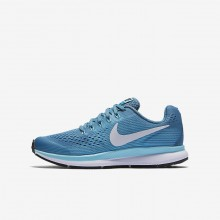 Nike Zoom Pegasus 34 Running Shoes Girls Noise Aqua/Bleached Aqua/Green Abyss/White 881954-404