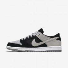 Nike SB Dunk Low Pro Skateboarding Shoes Mens Black/White/Wolf Grey 854866-001