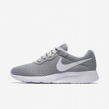 Nike Tanjun Lifestyle Shoes Womens Wolf Grey/White 812655-010