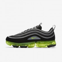 Nike Air VaporMax 97 Lifestyle Shoes Mens Black/Metallic Silver/White/Volt AJ7291-001