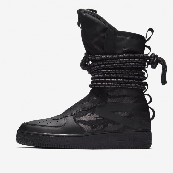 Nike SF Air Force 1 Hi Lifestyle Shoes Mens Black/Dark Grey AA1128-002