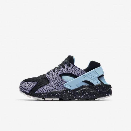 Nike Huarache Pinnacle QS Lifestyle Shoes Boys Black/Purple Pulse/Summit White/Lagoon Pulse AJ3690-001