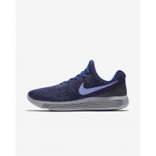 Nike LunarEpic Low Flyknit 2 Running Shoes Womens Dark Raisin/Deep Royal Blue/Black/Light Thistle 863780-501