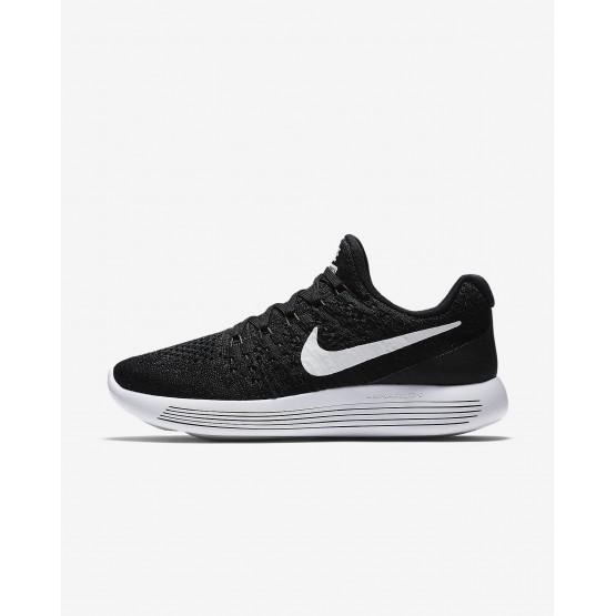 Nike LunarEpic Low Flyknit 2 Hardloopschoenen Dames Zwart/Wit 863780-001