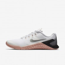 Nike Metcon 4 Training Shoes Womens White/Rust Pink/Black/Metallic Silver 924593-100