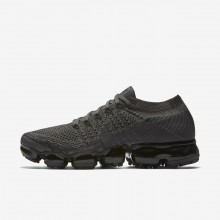 Nike Air VaporMax Flyknit Running Shoes Womens Midnight Fog/Black/College Navy/Multi-Color 849557-009