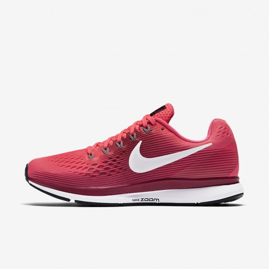 Nike Air Zoom Pegasus 34 Running Shoes Womens Racer Pink/Vast Grey/Atmosphere Grey/Gunsmoke 880560-605