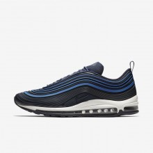 Nike Air Max 97 Ultra 17 Premium Lifestyle Shoes Mens Navy/Sail/Obsidian AH7581-400