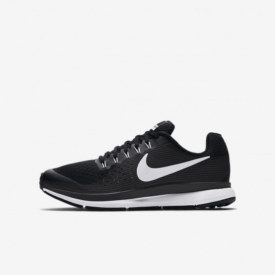 Nike Zoom Pegasus Running Shoes Boys Black/Dark Grey/Anthracite/White 881953-002