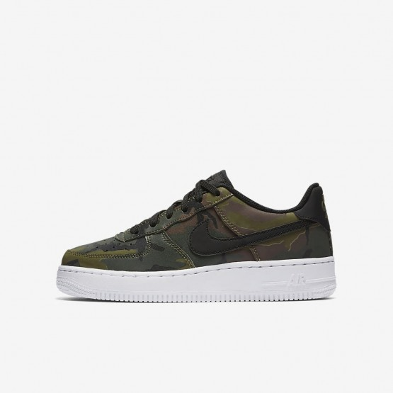 Nike Air Force 1 LV8 Lifestyle Shoes Boys Medium Olive/Baroque Brown/Sequoia/Black 820438-204