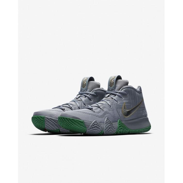 ... Nike Kyrie 4 Basketball Shoes Mens Flat Silver Metallic Gold 943806-001 594194581