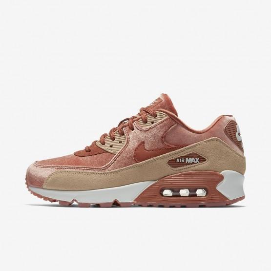 Nike Air Max 90 Lifestyle Shoes Womens Dusty Peach/Bio Beige/Summit White 898512-201
