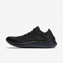 Nike Free RN Flyknit 2018 Running Shoes Mens Black/Anthracite 942838-002
