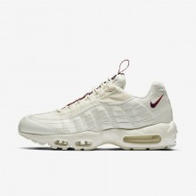 Nike Air Max 95 Lifestyle Shoes Mens Sail/Gym Red/Gym Blue AJ1844-101