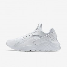 Nike Air Huarache Lifestyle Shoes Mens White/Pure Platinum 318429-111