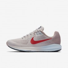 Nike Air Zoom Running Shoes Womens Vast Grey/Elemental Rose/Cobalt Tint/Habanero Red 904701-006