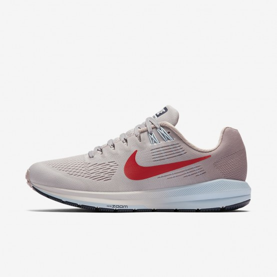 Nike Air Zoom Structure 21 Running Shoes Womens Vast Grey/Elemental Rose/Cobalt Tint/Habanero Red 904701-006