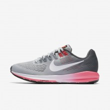 Nike Air Zoom Structure 21 Running Shoes Womens Dark Grey/Wolf Grey/Hot Punch/White 904701-002