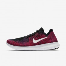 Nike Free RN Running Shoes Boys Black/Total Crimson/University Red/Pure Platinum 881973-004
