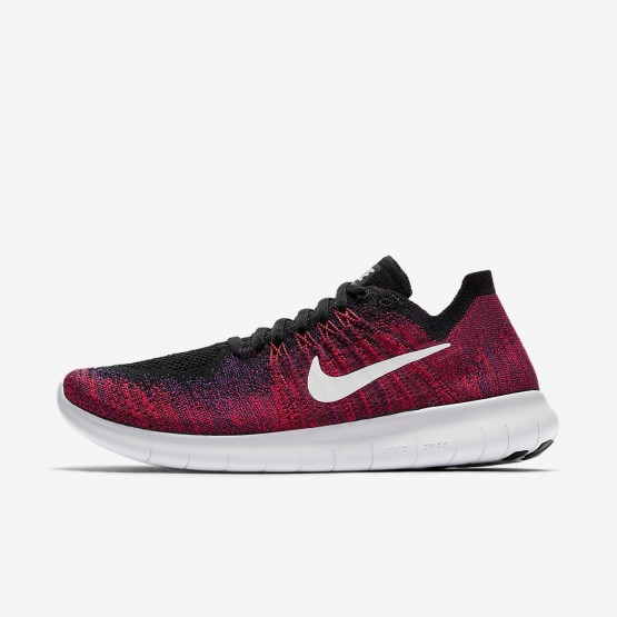 Nike Free RN Flyknit 2017 Running Shoes Boys Black/Total Crimson/University Red/Pure Platinum 881973-004