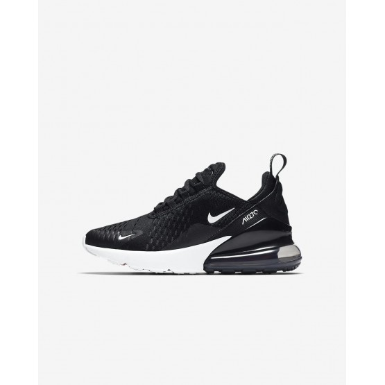 Nike Air Max 270 Lifestyle Shoes Boys Black/Anthracite/White 943345-001