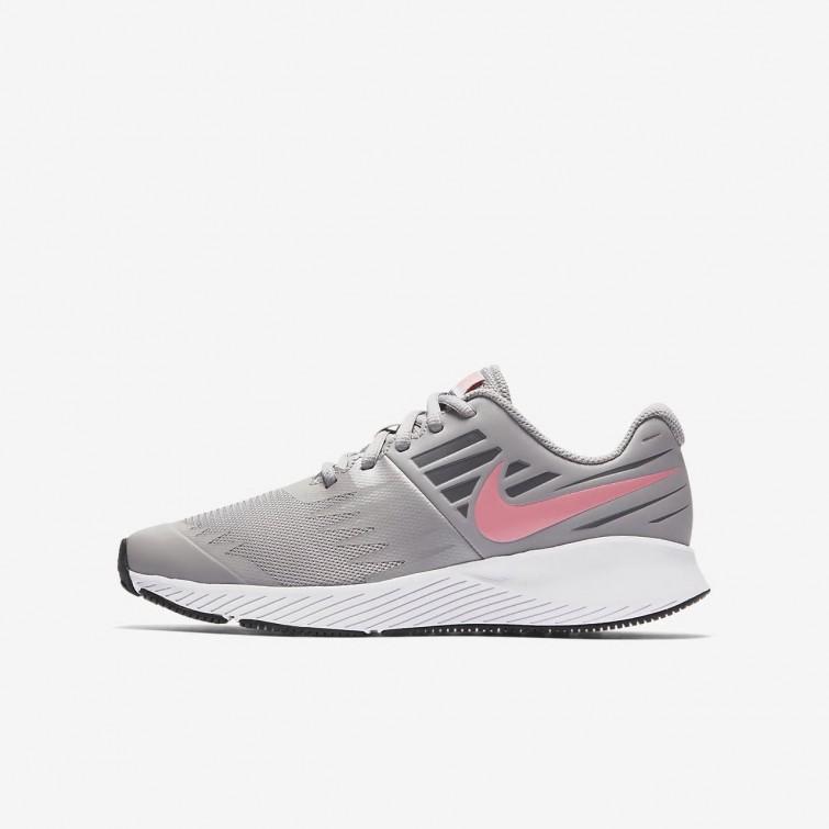 Zapatillas Running Nike Star Runner Niña Gris Blancas 907257-002 7ea6280a02de7