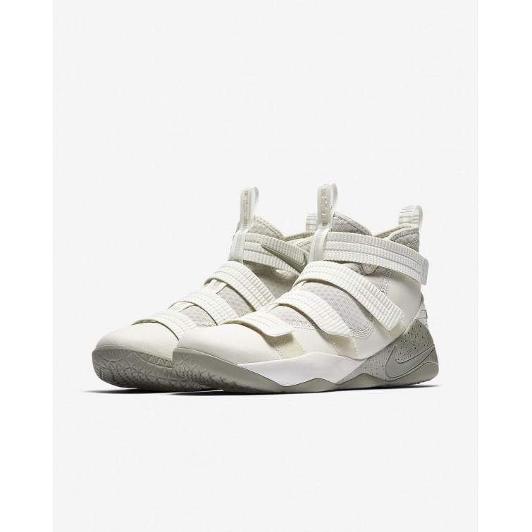 334f1cd5fb60 ... Nike LeBron Soldier XI SFG Basketball Shoes Womens Light Bone Black Total  Crimson