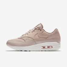 Nike Air Max 1 Premium Lifestyle Shoes Womens Particle Beige/Particle Pink/Summit White 454746-206