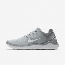 Nike Free RN 2018 Running Shoes Mens Wolf Grey/White/Volt 942836-003